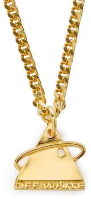 Off-White Off White Triangular Logo Necklace - Mens - Gold