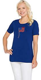 Factory Quacker Summer Sequin Short SleeveKnit T-shirt