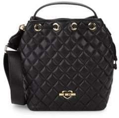 Love Moschino Diamond Quilted Bucket Bag