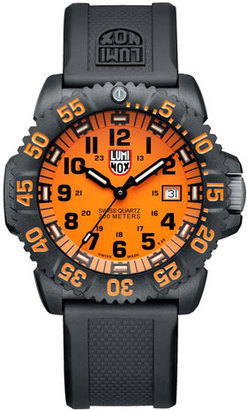 Luminox 44mm Navy SEAL 3050 Series Colormark Watch, Orange $395 thestylecure.com
