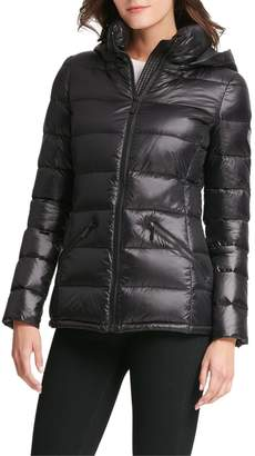 DKNY Horizontal-Quilted Packable Jacket w/ Hood