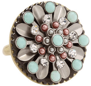 Juicy Couture Laurel Canyon Pearl and Mint Ring