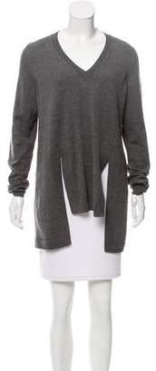 Givenchy V-neck Rib Knit Sweater