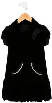 MonnaLisa Girls' Embellished Velvet Dress