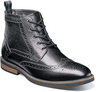 Nunn Bush Mens Odel Lace Up Boots Flat Heel Lace-up