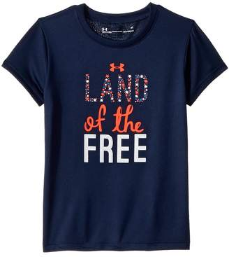 Under Armour Kids Land of the Free Short Sleeve Girl's Clothing