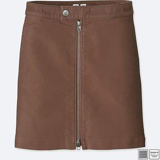 Uniqlo Women's U Cotton Zipped Mini Skirt