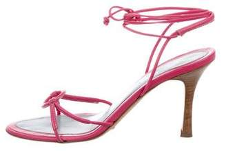Lambertson Truex Mid-Heel Lace-Up Sandals