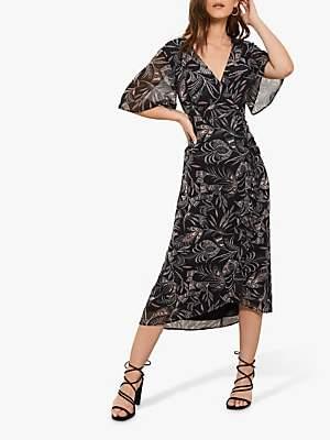 0f3420661b12 Mint Velvet Bella Print Ruched Dress, Multi