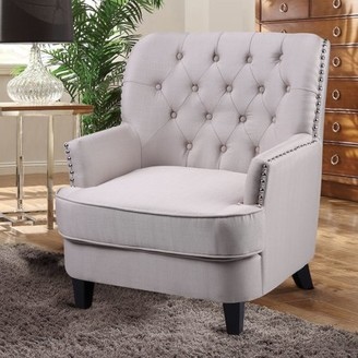 Best Master Furniture's Campbell Tufted Fabric Accent Chair, Available in Two Colors
