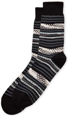 Missoni Textured Stripe Crew Socks