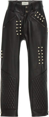 Rodarte Quilted Leather Pant