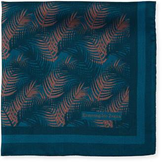 Ermenegildo Zegna Palm Leaves Silk Pocket Square