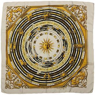 One Kings Lane Vintage Hermes Astrologie Silk Print Scarf - Vintage Lux
