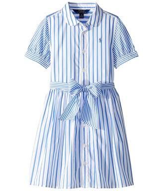 c9786a888d1ac Polo Ralph Lauren Striped Cotton Shirtdress (Little Kids)