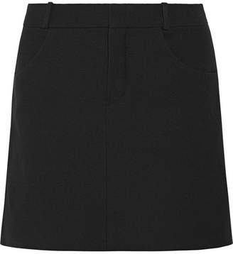 Chloé Wool-blend Twill Mini Skirt - Black