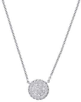 Effy Diamond and 14K White Gold Medallion Pendant Necklace