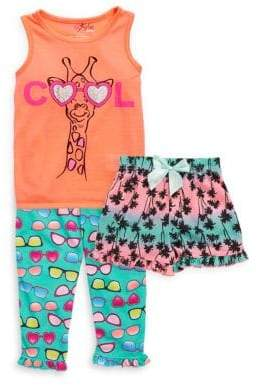 Freestyle Little Girl's Three-Piece Cool Shorts Set