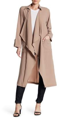 Lush Draped Open Front Trench Duster