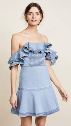 Tanya Taylor Lara Denim Dress