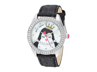 Betsey Johnson BJ00048-277 - Penguin Motif Dial Black Strap Watch