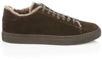 Saks Fifth Avenue Suede & Shearling Sneakers