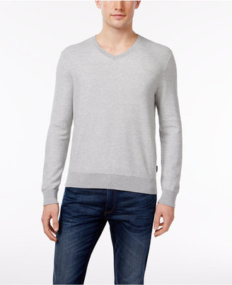 Michael Kors Men's V-Neck Supima Cotton Sweater, Only at Macy's $98 thestylecure.com