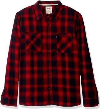 Levi's Men's Lusk Long Sleeve Dobby Shirt