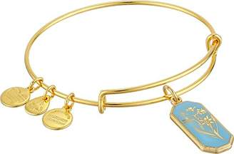 Alex and Ani Forest Nymph Jonquil Gold-Tone Expandable Wire Bangle Bracelet