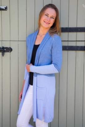 Luella Denim and Pale Blue Colour Block Cashmere Cardigan - Blue