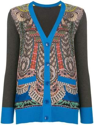 Etro contrast sleeve cardigan