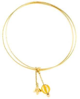 Carolina Bucci 18K Double Bangle Charm Bracelet