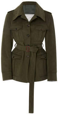 Giuliva Heritage Collection Sahariana Belted Cotton-Twill Jacket Size: