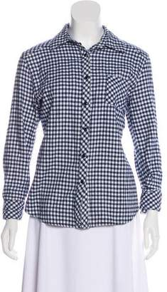 Tart Plaid Button-Up Top