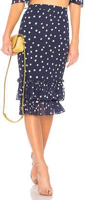 LPA High Waist Ruffle Skirt