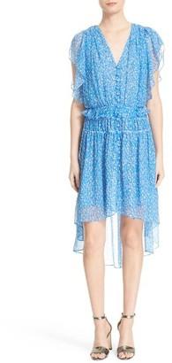 Women's The Kooples Floral Print Silk Dress $330 thestylecure.com