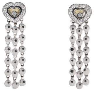 Chopard 18K Diamond Happy Diamond Heart Earclip Earrings