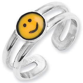 QVC Sterling Smiley Face Toe Ring
