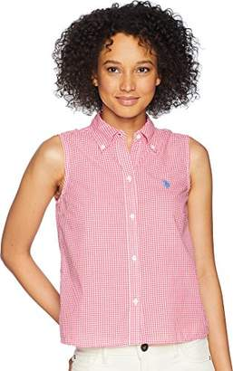 U.S. Polo Assn. Women's Sleeveless Poplin Shirt