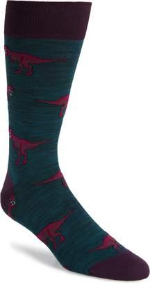 Bugatchi Dinosaur Socks