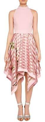 Ted Baker Angelik Harmony Burnout-Stripe Dress