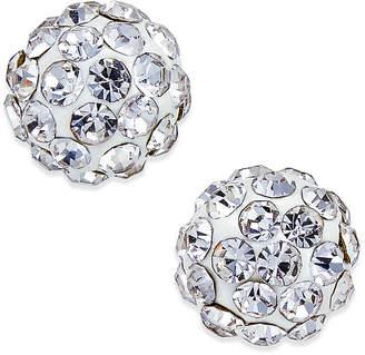 Macy's Crystal Ball Stud Earrings in 10K White Gold