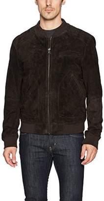 Blank NYC [BLANKNYC] Men's Bear Suede Bomber Outerwear