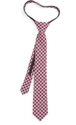 Nordstrom Plaid Cotton Zip Tie