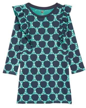Tea Collection Print Ruffle Dress