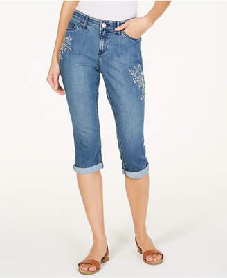 f39a650439d75 Lee Platinum Petite Flex Motion Capri Jeans