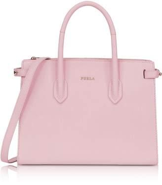 Furla Camelia Leather E/w Pin Small Tote Bag