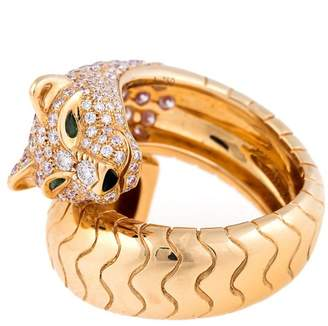 Cartier 18K Yellow Gold Womens Panthère Ring Size 7.25