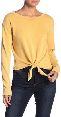 Love, Fire Long Sleeve Knot Front Sweater