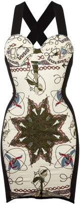 Jean Paul Gaultier Pre-Owned electrical print bodycon dress